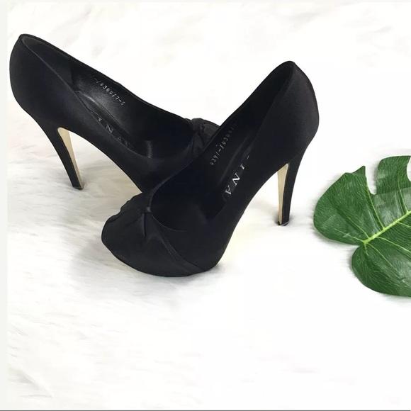 a1dfb226abb5 Gina london black satin high heels sz5